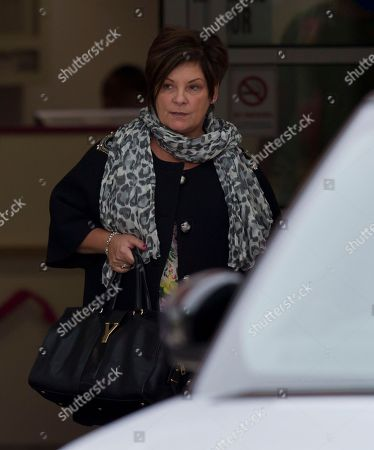 Colette McLoughlin, mother-in-law of Wayne Rooney leaves Liverpool Women's Hospital after the birth of the footballer's second son Klay Anthony, Liverpool, England
