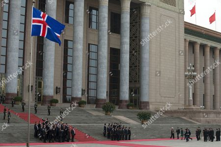 Johanna Sigurdardottir, Li Keqiang Iceland's Prime Minister Johanna Sigurdardottir and Chinese Premier Li Keqiang arrive at a welcome ceremony outside the Great Hall of the People in Beijing