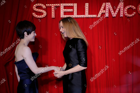 Stella McCartney, Sun Li British fashion designer Stella McCartney, right, greets Chinese actress Sun Li on the red carpet of her own fashion brand event in Shanghai, China