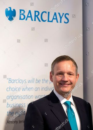 Antony Jenkins, CEO of Barclays Bank, poses for photographers in London prior to the bank's annual general meeting. Barclays PLC fired chief executive Antony Jenkins, concluding he wasn't moving quickly enough to put past scandals behind the bank and increase profits. The bank, Britain's second largest, announced that John MacFarlane had taken over as executive chairman