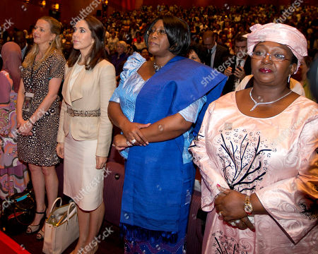 Mabel, Mary, Christine Kaseba, Alice Sia Nyama Korom Princess Mabel of the Netherlands, left, Denmark's Crown Princess Mary, second left, Christine Kaseba, second right, wife of Zambian President Kenneth Kaunda and the Alice Sia Nyama Korom, the first lady of Sierra Leone, stand at the opening of the Women Deliver conference in Kuala Lumpur, Malaysia, . The three-day conference will focus on the health and empowerment of girls and women and ensuring their rights remain top priorities now, and for decades to come