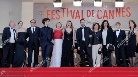 Marisa Borini, Louis Garrel, Valeria Bruni Tedeschi, Filippo Timi, Xavier Beauvois, Noemi Lvovsky, Andre Wilms Cast, from left, Andre Wilms, Celine Sallette, Xavier Beauvois, Louis Garrel, Marisa Borini, director Valeria Bruni Tedeschi, Filippo Timi and screenwriter Noemi stand at the top of the red carpet as they arrive for the screening of A Castle in Italy at the 66th international film festival, in Cannes, southern France