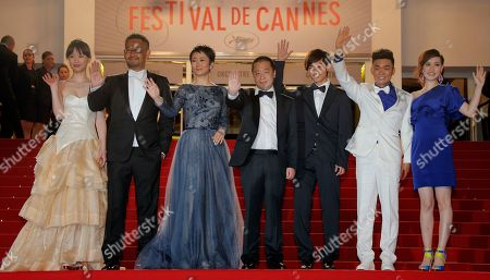 Meng Li, Jiang Wu, Tao Zhao, Jia Zhangke, Lanshan Luo, Baoqiang Wang, Ma Rong From left, actors Meng Li, Jiang Wu, Tao Zhao, director Jia Zhangke, actors Lanshan Luo, Baoqiang Wang and Ma Rong arrive for the screening of film A Touch of Sin at the 66th international film festival, in Cannes, southern France