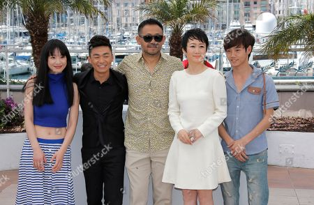 Meng Li, Baoqiang Wang, Jiang Wu, Tao Zhao, Lanshan Luo From left, actors Meng Li, Baoqiang Wang, Jiang Wu, Tao Zhao and Lanshan Luo pose for photographers during a photo call for the film A Touch of Sin at the 66th international film festival, in Cannes, southern France