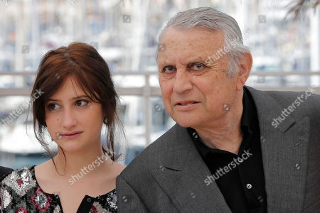 Helene Fillieres, Michel Subor Actors Michel Subor, right, and Helene Fillieres pose for photographers during a photo call for the film Bastards at the 66th international film festival, in Cannes, southern France