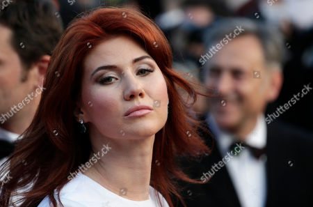 Stock Picture of Anna Chapman Russian Anna Chapman, who was deported from the U.S. in July 2010 on charges of espionage, poses for photographers as she arrives for the screening of Behind the Candelabra at the 66th international film festival, in Cannes, southern France