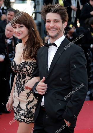 Sophie Desmarais, Jean-Sebastien Courchesne Actors Sophie Desmarais, left, and Jean-Sebastien Courchesne arrive for the screening of Behind the Candelabra at the 66th international film festival, in Cannes, southern France
