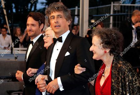 Will Forte, June Squibb, Alexander Payne, Angela McEwan From left, actors Will Forte, June Squibb, director Alexander Payne and actress Angela McEwan leave after the screening of Blue Is The Warmest Colour at the 66th international film festival, in Cannes, southern France