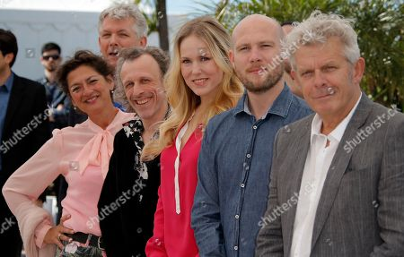 Alex Van Warmerdam, Jeroen Perceval, Hadewych Minis, Jan Buvoet, Annet Malherbe From right, director Alex Van Warmerdam, actors Jeroen Perceval, Hadewych Minis, Jan Buvoet and Annet Malherbe pose for photographers during a photo call for the film Borgman at the 66th international film festival, in Cannes, southern France
