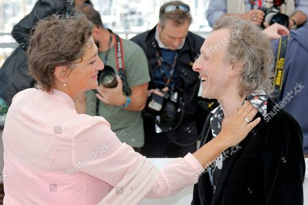 Annet Malherbe, Jan Buvoet Actors Annet Malherbe, left, and Jan Buvoet pose for photographers during a photo call for the film Borgman at the 66th international film festival, in Cannes, southern France