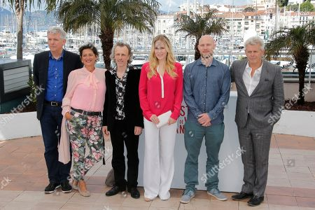 Annet Malherbe, Jan Buvoet, Hadewych Minis, Jeroen Perceval, Alex Van Warmerdam From right, director Alex Van Warmerdam, actors Jeroen Perceval, Hadewych Minis, Hadewych Minis, Jan Buvoet, and unidentified pose for photographers during a photo call for the film Borgman at the 66th international film festival, in Cannes, southern France