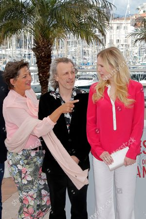 Annet Malherbe, Jan Buvoet, Hadewych Minis From left, Actors Annet Malherbe, Jan Buvoet and Hadewych Minis pose for photographers during a photo call for the film Borgman at the 66th international film festival, in Cannes, southern France