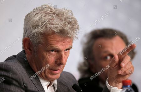 Alex van Warmerdam Director Alex van Warmerdam, left, speaks during a press conference for Borgman at the 66th international film festival, in Cannes, southern France