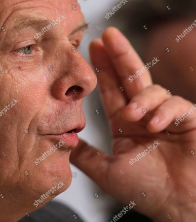 Alex van Warmerdam Director Alex van Warmerdam gestures while speaking during a press conference for Borgman at the 66th international film festival, in Cannes, southern France