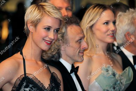 Sara Hjort Ditlevsen, Jan Bijvoet, Hadewych Minis From left, actors Sara Hjort Ditlevsen, Jan Bijvoet and Hadewych Minis arrive for the screening of the film Borgman at the 66th international film festival, in Cannes, southern France