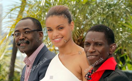 Mahamat-Saleh Haroun, Anais Monory, Souleymane Deme From left, director Mahamat-Saleh Haroun, actress Anais Monory and actor Souleymane Deme pose during a photo call for the film Grigris at the 66th international film festival, in Cannes, southern France