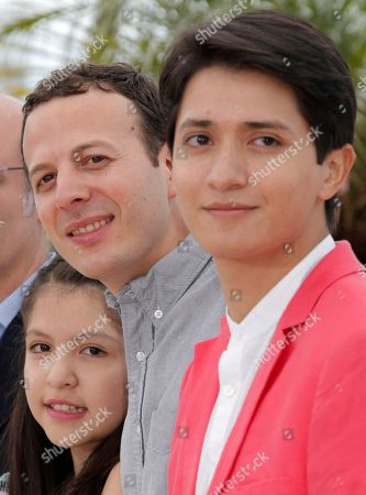 Armando Espitia, Andrea Vergara, Amat Escalante From left, actress Andrea Vergara, director Amat Escalante and actor Armando Espitia pose for photographers during a photo call for the film Heli at the 66th international film festival, in Cannes, southern France