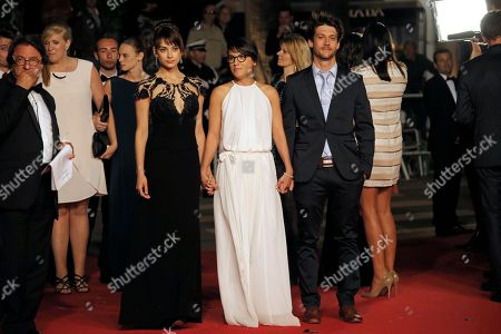 Sophie Desmarais, Chloe Robichaud, Jean-Sebastien Courchesne From 5th left, actress Sophie Desmarais, director Chloe Robichaud and actor Jean-Sebastien Courchesne arrive for the screening of the film La Vie D'Adele at the 66th international film festival, in Cannes, southern France