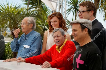 Michel Legrand, Kerry Bishe, Jerry Lewis, Daniel Noah, Kevin Pollak From left, musician Michel Legrand, actress Kerry Bishe, comedian Jerry Lewis, actor Kevin Pollak and director Daniel Noah pose for photographers during a photo call for the film Max Rose at the 66th international film festival, in Cannes, southern France