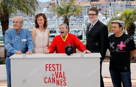 Michel Legrand, Kerry Bishe, Jerry Lewis, Daniel Noah, Kevin Pollak From left, musician Michel Legrand, actress Kerry Bishe, comedian Jerry Lewis, director Daniel Noah and actor Kevin Pollak pose during a photo call for the film Max Rose at the 66th international film festival, in Cannes, southern France