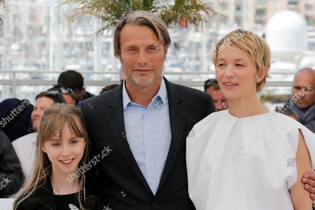 Delphine Chuillot, Mads Mikkelsen, Melusine Mayance From left, actors Mads Mikkelsen, Melusine Mayance and Delphine Chuillot pose for photographers uring a photo call for the film Michael Kohlhaas at the 66th international film festival, in Cannes, southern France