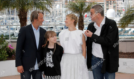 Delphine Chuillot, Mads Mikkelsen, Melusine Mayance From left, actors Mads Mikkelsen, Melusine Mayance, Delphine Chuillot and director Arnaud des Pallieres pose for photographers during a photo call for the film Michael Kohlhaas at the 66th international film festival, in Cannes, southern France