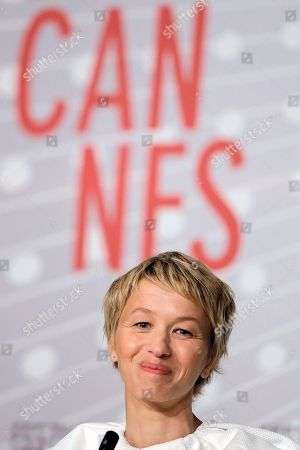 Delphine Chuillot Actress Delphine Chuillot listens to questions during a press conference for Michael Kohlhaas at the 66th international film festival, in Cannes, southern France