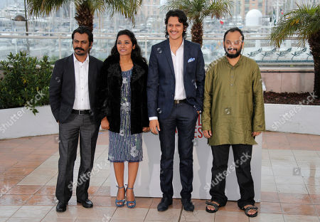 Nawazuddin Siddiqui, Tannishtha Chatterjee, Vijay Verma, Amit Kumar From left, actors Nawazuddin Siddiqui, Tannishtha Chatterje, Vijay Verma and director Amit Kumar pose for photographers during a photo call for the film Monsoon Shootout at the 66th international film festival, in Cannes, southern France