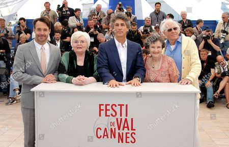 Bruce Dern, Angela McEwan, Alexander Payne, June Squibb, Will Forte From right, actors Bruce Dern, Angela McEwan, director Alexander Payne, June Squibb and Will Forte pose during a photo call for the film Nebraska at the 66th international film festival, in Cannes, southern France
