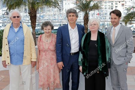 Bruce Dern, Angela McEwan, Alexander Payne, June Squibb, Will Forte From left, actors Bruce Dern, Angela McEwan, director Alexander Payne, actors June Squibb and Will Forte poses for photographers during a photo call for the film Nebraska at the 66th international film festival, in Cannes, southern France