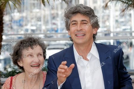 Angela McEwan, Alexander Payne Actress Angela McEwan, left, and director Alexander Payne pose for photographers during a photo call for the film Nebraska at the 66th international film festival, in Cannes, southern France