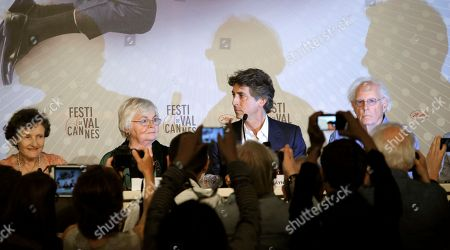 Angela McEwan, June Squibb, Alexander Payne, Bruce Dern From left, actors Angela McEwan, June Squibb, director Alexander Payne and actor Bruce Dern attend a press conference for Nebraska at the 66th international film festival, in Cannes, southern France