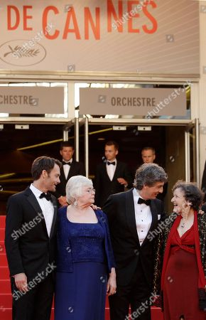 Will Forte, June Squibb, Alexander Payne, Angela McEwan From left, actor Will Forte, actress June Squibb, director Alexander Payne and actor Angela McEwan arrive for the screening of Nebraska at the 66th international film festival, in Cannes, southern France