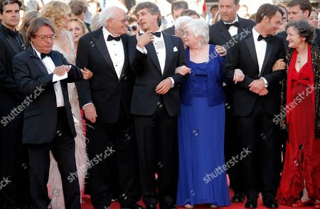 Angela McEwan, Will Forte, June Squibb, Alexander Payne, Bruce Dern, Laura Dern From right, actors Angela McEwan, Will Forte, June Squibb, director Alexander Payne, actor Bruce Dern and actress Laura Dern arrive for the screening of Nebraska at the 66th international film festival, in Cannes, southern France