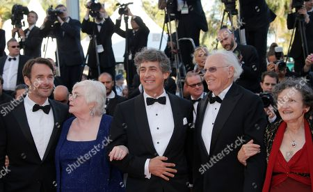 Angela McEwan, Will Forte, June Squibb, Alexander Payne, Bruce Dern, Laura Dern From right, actors, Will Forte, June Squibb, director Alexander Payne, actor Bruce Dern and Angela McEwan arrive for the screening of Nebraska at the 66th international film festival, in Cannes, southern France