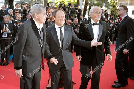 Jerry Lewis, Kevin Pollak, Michel Legrand, Daniel Noah From left, comedian Jerry Lewis, actor Kevin Pollak, musician Michel Legrand and director Daniel Noah arrive for the screening of Nebraska at the 66th international film festival, in Cannes, southern France