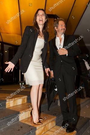 Geraldine Pailhas, Christopher Thompson Actress Geraldine Pailhas, left, and her companion, director Christopher Thompson, arrive to the party of the movie The Bling Ring at the JW Marriott hotel at the 66th international film festival, in Cannes, southern France