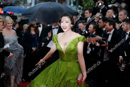 Zhang Yuqi Actress Zhang Yuqi arrives for the opening ceremony and the screening of The Great Gatsby at the 66th international film festival, in Cannes, southern France