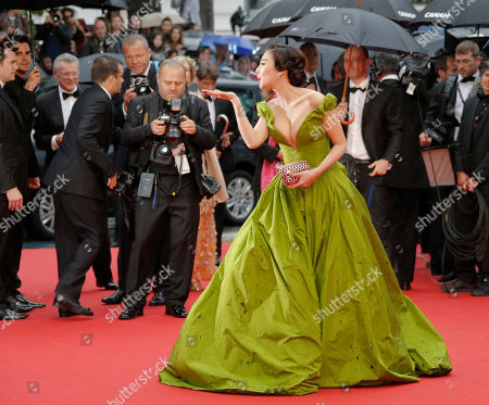 Zhang Yuqi Actress Zhang Yuqi blows a kiss to photographers as she arrives for the opening ceremony and the screening of The Great Gatsby at the 66th international film festival, in Cannes, southern France