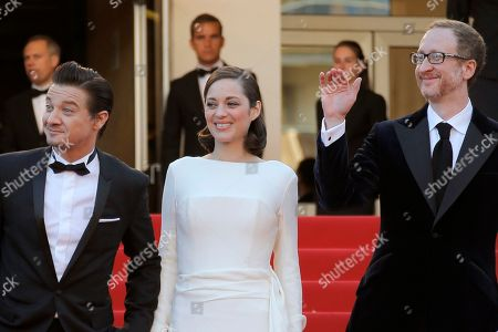 Greg Shapiro, Jeremy Renner, Marion Cotillard, James Gray, Ali Gray From left, producer Greg Shapiro, actors Jeremy Renner, Marion Cotillard, director James Gray and his wife Ali Gray arrive for the screening of the film for the screening of The Immigrant at the 66th international film festival, in Cannes, southern France