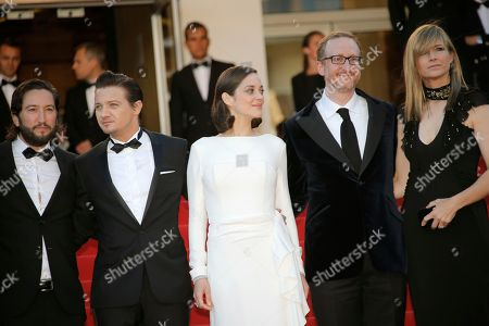 James Gray, Marion Cotillard, Jeremy Renner, Greg Shapiro, Ali Gray From left, producer Greg Shapiro, actors Jeremy Renner, Marion Cotillard, director James Gray and his wife Ali Gray arrive for the screening of the film The Immigrant at the 66th international film festival, in Cannes, southern France