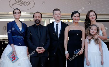Berenice Bejo, Asghar Farhadi, Alexandre Mallet-Guy, Sabrina Ouazani, Jeanne Jestin, Pauline Burlet Cast members from left, Berenice Bejo, director Asghar Farhadi, producer Alexandre Mallet-Guy, Sabrina Ouazani, Jeanne Jestin and Pauline Burlet stand at the top of the red carpet as they arrive for the screening of the film The Past at the 66th international film festival, in Cannes, southern France