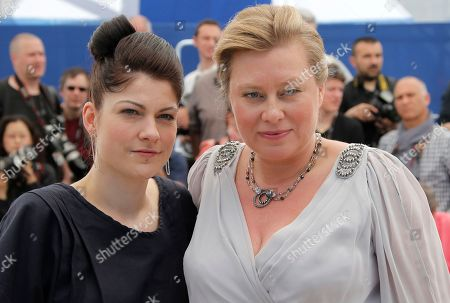 Katrin Gebbe, Verena Grafe-Hoft Director Katrin Gebbe, left, and actor Verena Grafe-Hoft pose for photographers during a photo call for the film Tore Tantz at the 66th international film festival, in Cannes, southern France