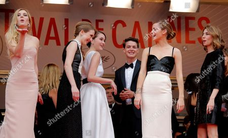 Claire Julien, Taissa Fariga, Katie Chang, Israel Broussard, Emma Watson From front left, actors Claire Julien, Taissa Fariga, Katie Chang, Israel Broussard, Emma Watson and director Sofia Coppola pose for photographers as they arrive for the screening of Young & Beautiful at the 66th international film festival, in Cannes, southern France