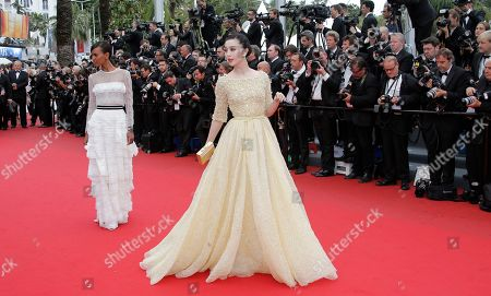 Fan Bing Bing Actor Fan Bing Bing, right, poses for photographers as she arrives for the screening of the film Young & Beautiful at the 66th international film festival, in Cannes, southern France