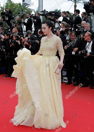 Fan Bing Bing Actor Fan Bing Bing poses for photographers as she arrives for the screening of the film Young & Beautiful at the 66th international film festival, in Cannes, southern France