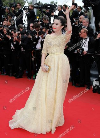 Fan Bing Bing Actor Fan Bing Bing waves to photographers as she arrives for the screening of the film Young & Beautiful at the 66th international film festival, in Cannes, southern France