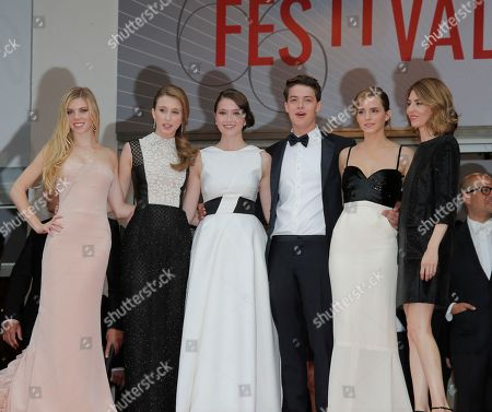 Claire Julien, Taissa Fariga, Katie Chang, Israel Broussard, Emma Watson, Sofia Coppola Cast of the Bling Ring, from left, Claire Julien, Taissa Fariga, Katie Chang, Israel Broussard, Emma Watson and director Sofia Coppola stand at the top of the red carpet as they arrive for the screening of the film Young & Beautiful at the 66th international film festival, in Cannes, southern France