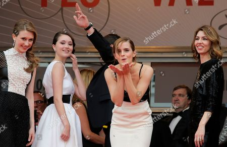 Emma Watson, Katie Chang, Taissa Fariga, Sofia Coppola Actress Emma Watson, centre, gestures to photographers alongside actors Taissa Fariga, left, Katie Chang, second left, and director Sofia Coppola as they arrive for the screening of the film Young & Beautiful at the 66th international film festival, in Cannes, southern France