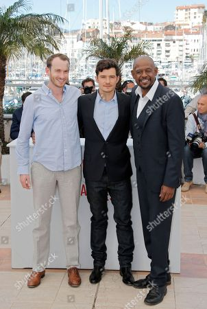 Conrad Kemp, Orlando Bloom, Forest Whitaker From left, actors Conrad Kemp, Orlando Bloom, and Forest Whitaker pose for photographers during a photo call for the film Zulu at the 66th international film festival, in Cannes, southern France